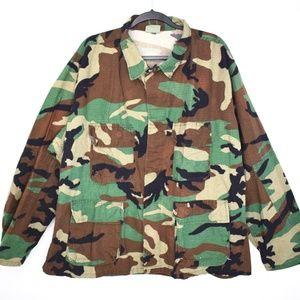 Vintage Camo Army Issue Cargo Jacket